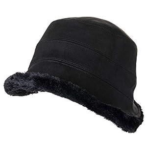 Fancet Womens Winter Bucket Derby Gatsby Vintage 1920s Round Bowler Church Hat Fall 55-59cm