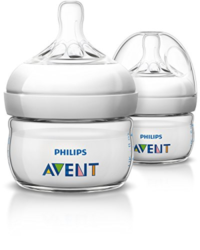 Philips AVENT Natural BPA Free Polypropylene Bottle for Newborns, 2 Ounce (Pack...