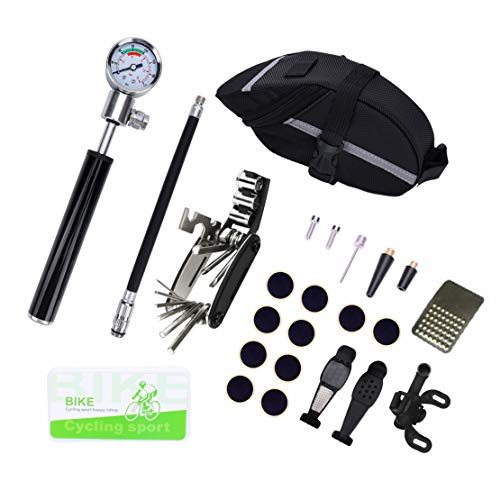Multifunction Bike Repair Tool Kits, Cycling Bicycle Repair DIY Handy tool Set, 16 in 1 Screwdriver, 210 PSI Pressure…