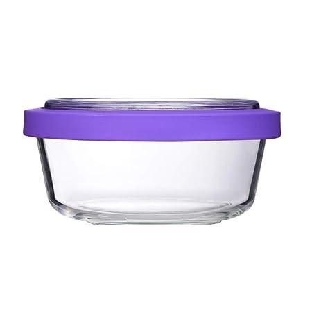 ZL-Porta alimentos Recipiente de Vidrio Recipiente Resistente al ...