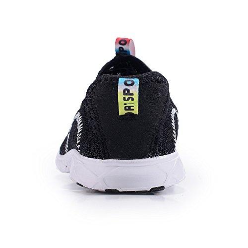 Fung-wong Män Kvinnor Mesh Vatten Skor Snabbtorkande Slip-on Aquad Sneakers Svart