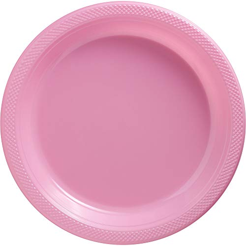 New Pink Plastic Luncheon Plates Big Party Pack, 50 Ct. -