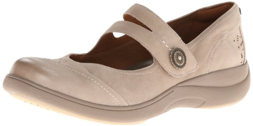 Jane Womens Mary Flats - Aravon Women's Revshow Mary Jane Flat,Taupe,7.5 D US
