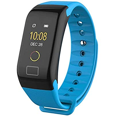 BZBest Fitness Tracker Waterproof Activity Tracker with Heart Rate Blood Pressure Blood Oxygen Monitor Smart Wristband with Calorie Counter Watch Pedometer Sleep Monitor Bluetooth Bracelet Blue Estimated Price £7.09 -