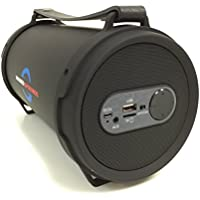 Portable Bazooka Bluetooth Speaker Subwoofer Protective Rubber Rims - Black