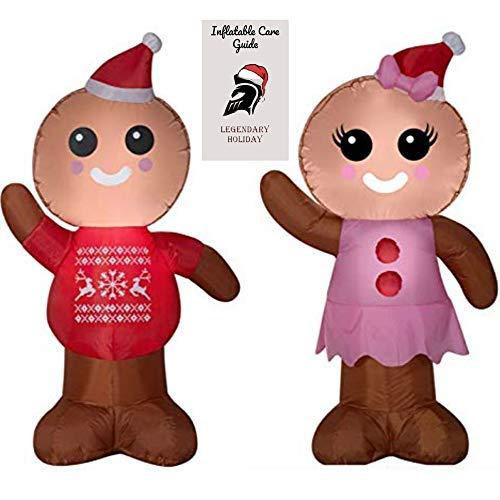 Christmas Gingerbread Man and Woman Inflatable Bundle 2018 -