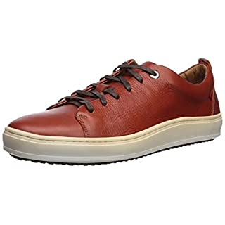 Marc Joseph New York Mens Genuine leather Made in Brazil Union Square Sneaker, Rust Grainy, 9.5 M US