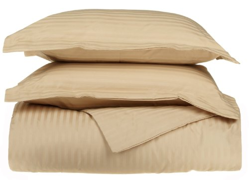 UPC 855031017219, Egyptian Cotton 650 Thread Count Stripe Duvet Cover Set King/California King-Beige
