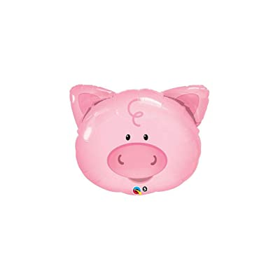 Qualatex Playful Pig Microfoil Balloon, 30-Inches (1-Pack) : Toys & Games