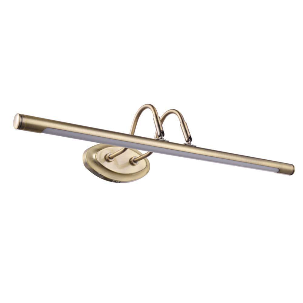 FuweiEncore American Mirror Lampe führte Badezimmer Lampe Schminktisch Lampe Retro Pastoralen Spiegel Schrank Licht wasserdicht (Farbe   Warm Weiß-4w38cm, Größe   -)
