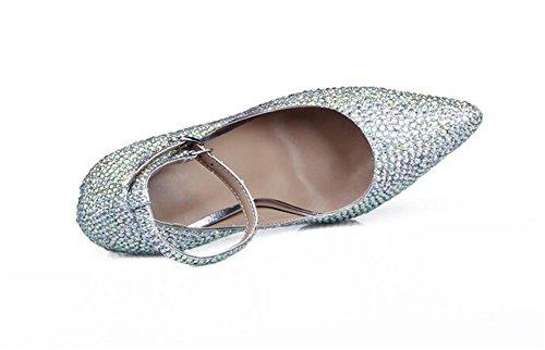 Simples Orteil Hauts Talons de de Coloré Chaussures Pointé avec Nuit Fine xie Forage des Femmes Boîtes ZaxTqT