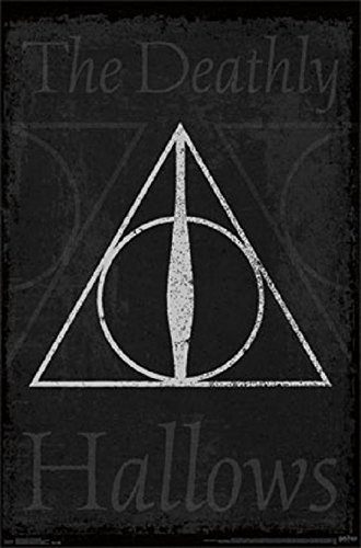 Master of Death - Elder Wand - Resurrection Stone - Cloak of Invisibility - Harry Potter 22x34 Poster (Harry Potter Elder Wand Cloak And Stone)