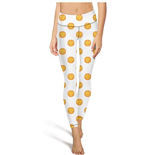 PDAQS Halloween Pumpkin Pattern Yoga Pants Sports Leggings Legging
