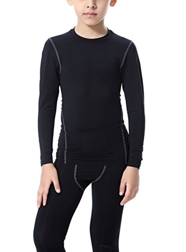 LANBAOSI-Boys-Girls-Long-Sleeve-Compression-Shirts-and-Pant-2-Pcs-Set