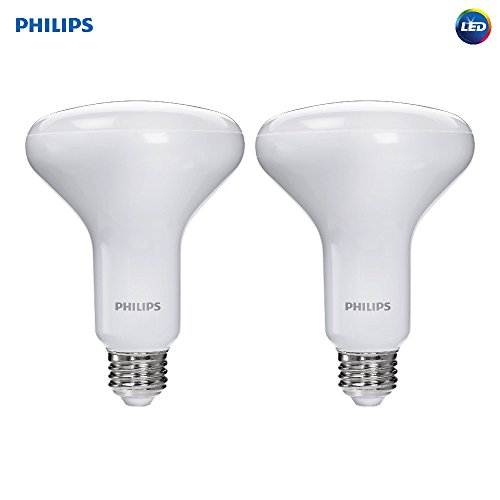 Philips LED Dimmable BR30 Soft White Light Bulb with Warm Glow Effect 650-Lumen, 2700-2200-Kelvin, 9-Watt (65-Watt Equivalent), E26 Base, Frosted, 2-Pack