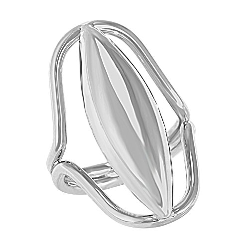 sculpture-collection-womens-sterling-silver-oblong-dome-ring-size-7-includes-product-care-bundle
