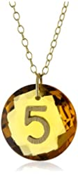 """Charmed Circle """"Like Letter"""" Citrine """"5"""" Necklace"""