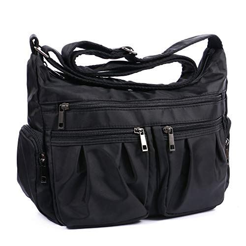 Multi pocket shoulder bag crossbody purse waterproof