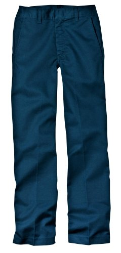 Navy School Uniform Pants (Dickies Little Boys' Classic Flat Front Pant,Dark Navy,7 Regular)
