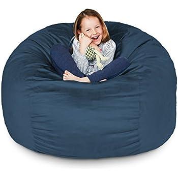 Amazon Com Bean Bag Chair 3 Foot Amp Navy Blue