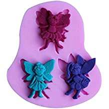 Cute Butterfly Elf Fairy Silicone Molds for DIY Cake Fondant Chocolate Mousse Cookie Baking Biscuit Decoration Tools( Pack of 2)