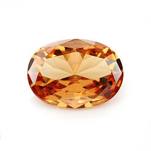 Champagne Color Cubic Zirconia Stone - 50PCS Size 3x5~10x12mm AAAAA Champagne Oval Shape Loose Cubic Zirconia CZ Stone For Jewelry Diy (5x7mm 50pcs)