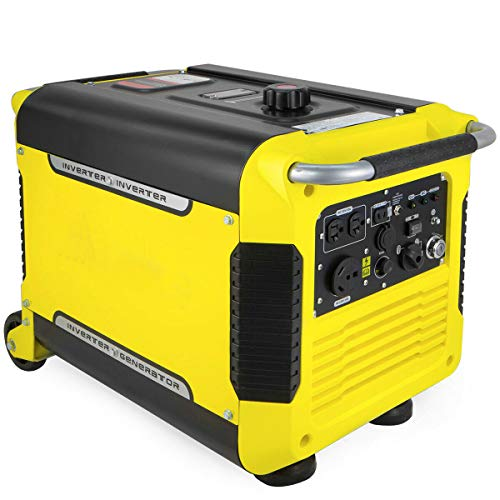 nitipezzo Highly Functional and Portable, 3000 Watt Portable Digital Inverter Quiet Generator Electric Start USB with Wheel nitipezzo