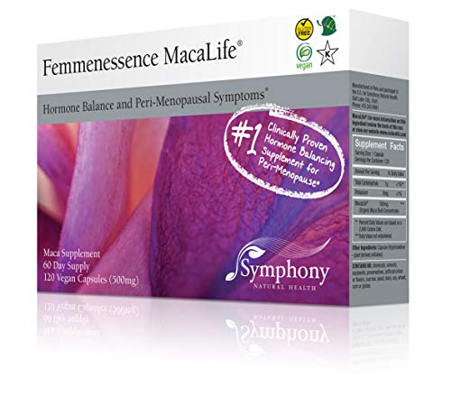 Femmenessence MacaLife (120 Vegan Capsules - 60 Day Supply) All Natural Maca Supplement To Support Womens Hormone Balance and Peri Menopause Symptoms - Hot Flashes, Night Sweats and Mood Swings