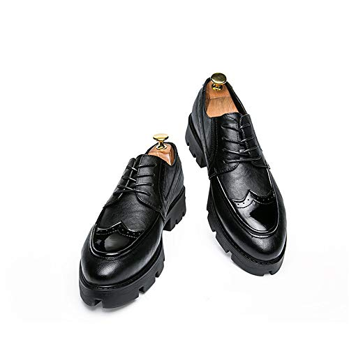 con Oxford Stringate Xujw Dimensione shoes da 2018 Business metallo Casual 44 EU traspirante Casual Nero Basse moda alla Scarpe uomo Color suola pelle in in Nero atzzn0q