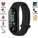 NALMAK Water Proof Smart Fitness Wrist Band for All Smartphones (Black)