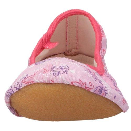 Beck 219 - Zapatillas de gimnasia de lino para niña Rosa