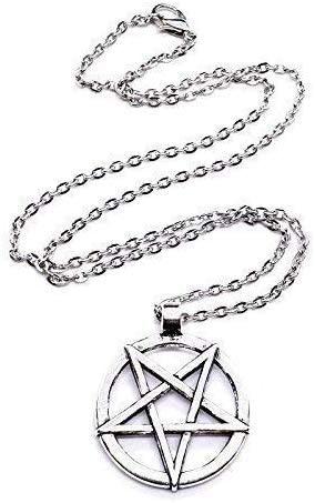 Inverted Pentagramme Pentacle Lavey Satan Baphomet Satanism Pendentif Chaîne