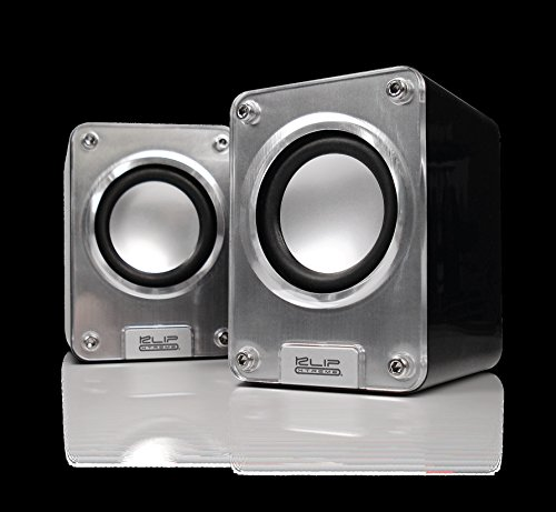 Klip Xtreme Mini II-2.0 Channel Stereo Speakers-Wired USB powered,3.5mm Connector-10Watt Peak Power-5W RMS-2.5'' Drivers with Heavy Bass design-Great for Computer,Laptop,Smartphone Tablet Stereo Sound by Klip xtreme (Image #1)