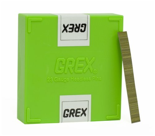 GREX P6/10L 23 Gauge 3/8-Inch Length Headless Pins (10,000 per box) by Grex Power Tools