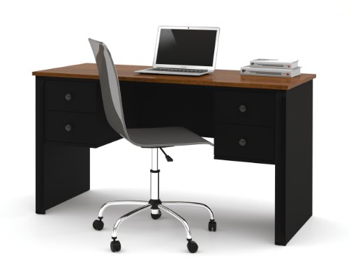 Bestar Somerville Workstation, Black and Tuscany (Brown Tuscany Executive Desk)