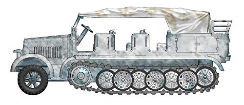 Hobbymaster Sd. Kfz.7 8-Ton Half Track, WWII Winter 1/72 Scale Die Cast Model HG5006