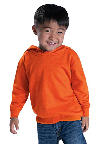 Rabbit Skins Toddler Fleece Long Sleeve Hooded Pullover Sweatshirt (White, 4 ()