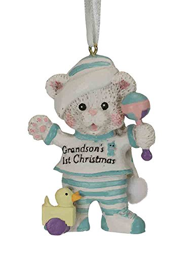 Kurt Adler Grandsons 1st Christmas Ornament (Grandson's First Christmas Ornament)