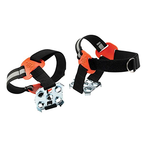 Ice Climbing Accessories (Ergodyne TREX 6315 Strap-On Heel Traction Cleat Grips Ice and Snow, Easily Attaches Over Heel of Shoe/Boot with Steel Plate to Provide Anti-Slip Solution, Medium/Large)