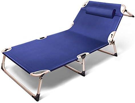 camas de playa plegables camas individuales reforzadas y transpirables refuerzo de cuatro patas DKJH Sillas de cubierta sof/ás camas de oficina almohadilla de algod/ón extra/íble mayor ampliaci/ón,
