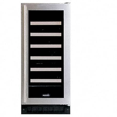 Luxury 30-Bottle Full Overlay Wine Refrigerator Hinge: Left - Auto Defrost Left Hinge