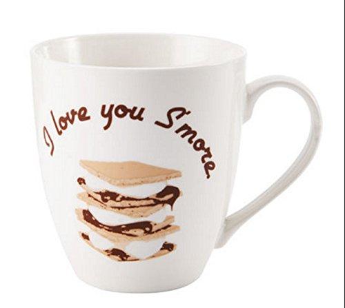 Pfaltzgraff Everyday I Love You Smore Large 18 Ounce Coffee Mug - White by Pfaltzgraff