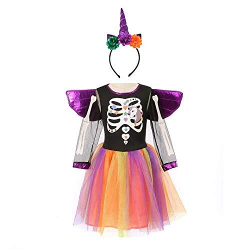 Witch Tutu Dress - Halloween Skeleton Costume Kids, Girls Witch
