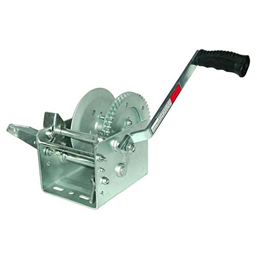 1800lb/810kg Trailer Winch, Ratio 5:1, 8'' Handle, No Strap - Jif Marine by JIF Marine, LLC