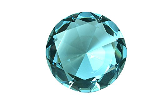 (Tripact 80mm Turquoise Crystal Diamond Jewel Paperweight)