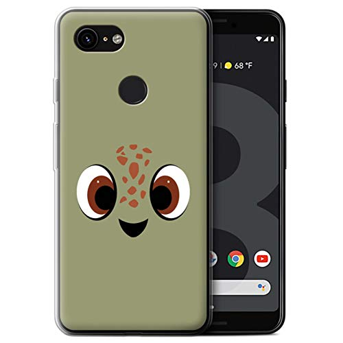 STUFF4 Gel TPU Phone Case/Cover for Google Pixel 3 / Squirt Art Inspired Design/Animated Film Characters Collection]()