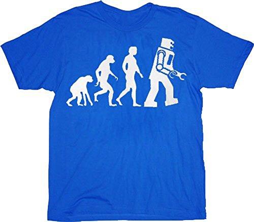 The Big Bang Theory Robot Evolution T-shirt Tee - Funny Big Bang Theory
