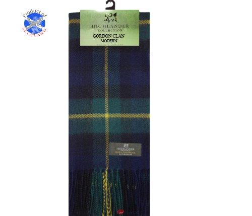 Lochcarron Gordon Clan Tartan Lambswool Scarf