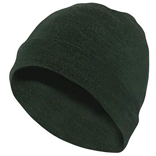 (MERIWOOL Unisex Merino Wool Cuff Beanie Hat - Army Green)
