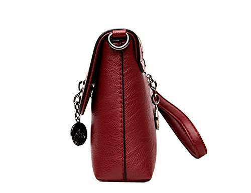 Solide Bandoulière Sac Simple Couleur Rouge Loisir KELUOSI Sacs Pochettes Vin à Mode Main Sac Embrayage à 1wHWBPTq